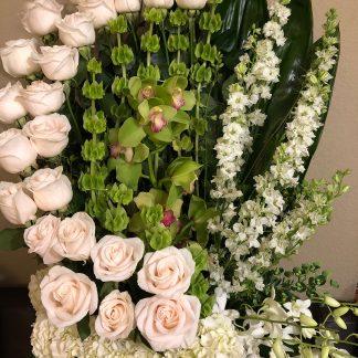 Cherishing White Rose Arrangement_