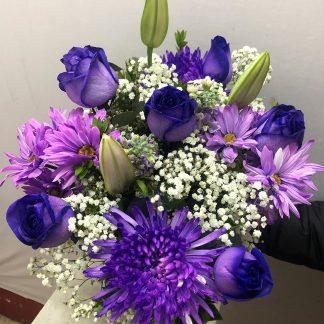 Half Dozen Purple Bouquet