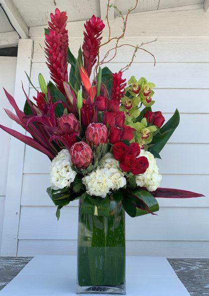 Blooming Passion floral arrangement