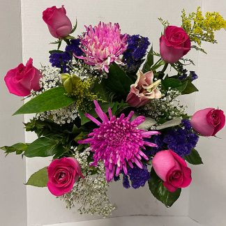 Half Dozen Hot Pink Bouquet