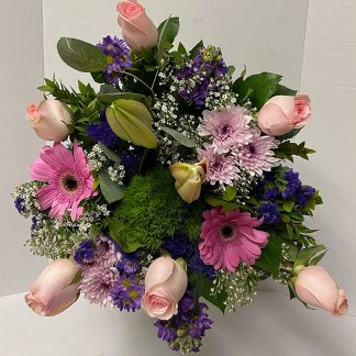 Half Dozen Pastel Rose Bouquet